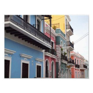 Balconies, Old San Juan, Puerto Rico Photo Print