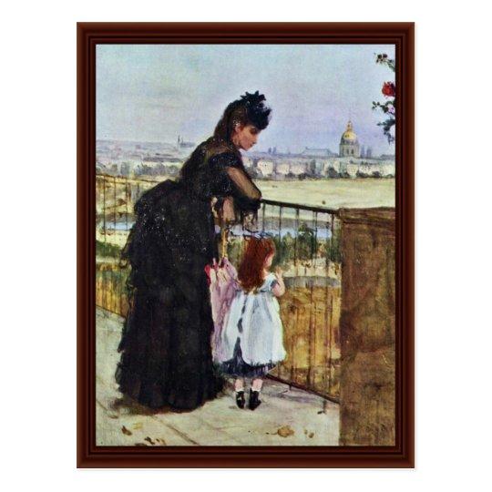 Balcony By Morisot Berthe Postcard