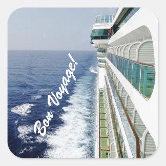 Balcony Row Bon Voyage Square Sticker