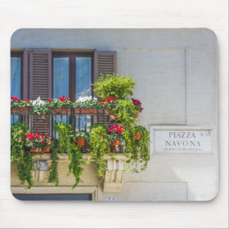 balcuny in piazza navona mouse pad