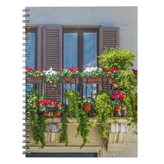 balcuny in piazza navona spiral note books
