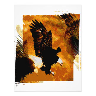 Bald American Eagle Landing Flyers