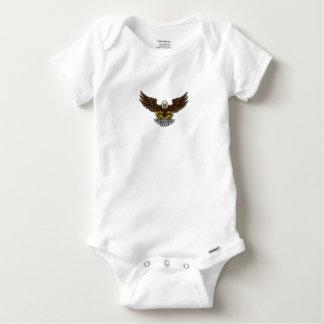 Bald American Eagle Mascot Baby Onesie