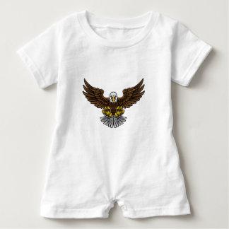 Bald American Eagle Mascot Baby Romper