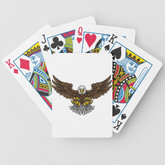 Bald American Eagle Mascot Bicycle Playing Cards