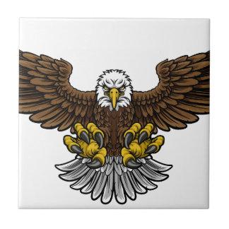 Bald American Eagle Mascot Ceramic Tiles