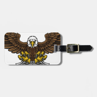 Bald American Eagle Mascot Luggage Tag