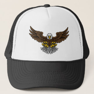Bald American Eagle Mascot Trucker Hat