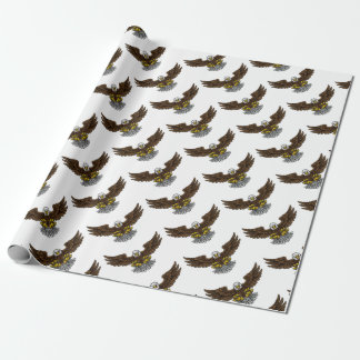 Bald American Eagle Mascot Wrapping Paper