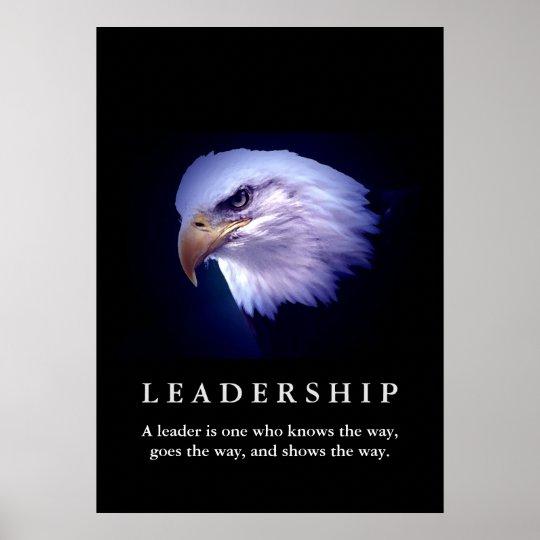 Bald American Eagle Motivational Leadership Poster
