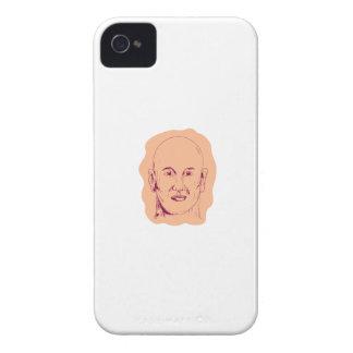Bald Caucasian Male Head Drawing iPhone 4 Case-Mate Case