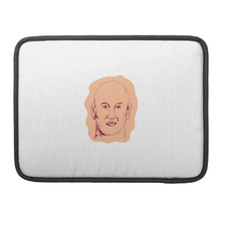 Bald Caucasian Male Head Drawing Sleeve For MacBook Pro