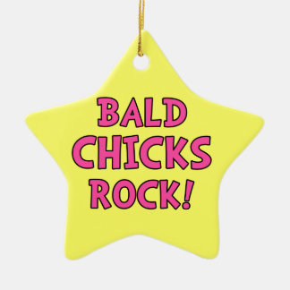 Bald Chicks Rock - Cancer Awareness Christmas Tree Ornaments