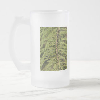 Bald Cypress Branch Frosted Glass Beer Mug
