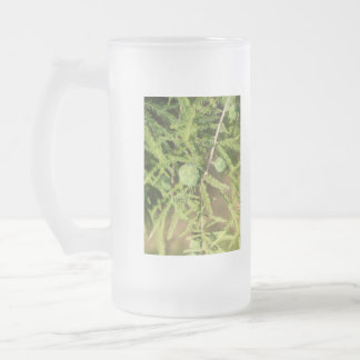 Bald Cypress Seed Cone Frosted Glass Beer Mug