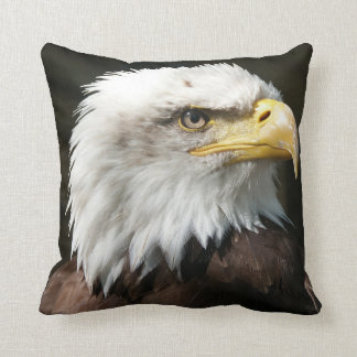 """Bald E Cotton Throw Pillow, Throw Pillow 16"""" x 16"""""""