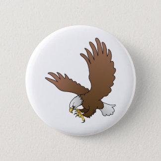 bald eagle 2 inch round button