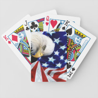 Bald Eagle America Flag - Patriotic Bicycle Playing Cards