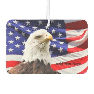 Bald Eagle & American Flag Air Freshener