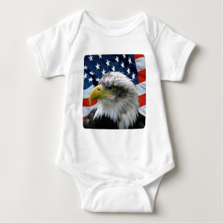 Bald Eagle American Flag Baby Bodysuit