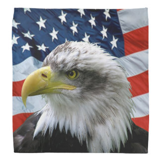 Bald Eagle American Flag Bandana