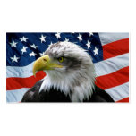 Bald Eagle American Flag Business Card Template