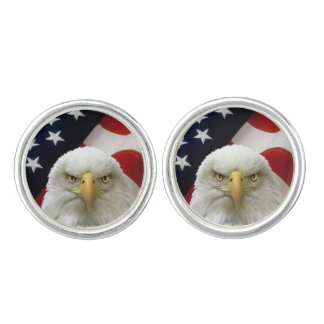 Bald Eagle American Flag Cufflinks 7