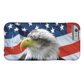 Bald Eagle American Flag Monogram iPhone 6 Case