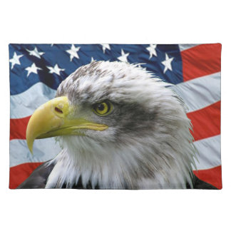 Bald Eagle American Flag Placemat