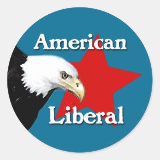 Bald Eagle American Liberal Sticker