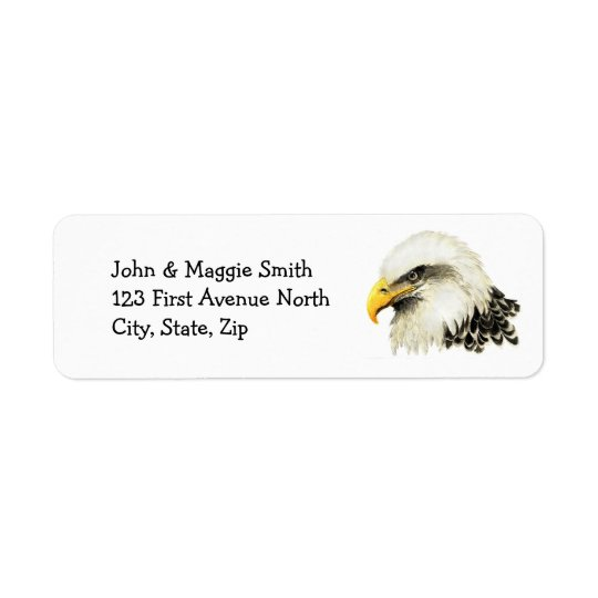 Bald Eagle American USA Bird Name Label Return Address Label