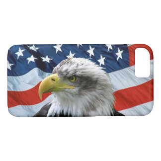 Bald Eagle and American Flag Case-Mate iPhone Case