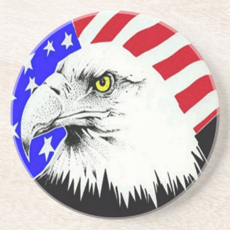 Bald Eagle and American Flag Coaster