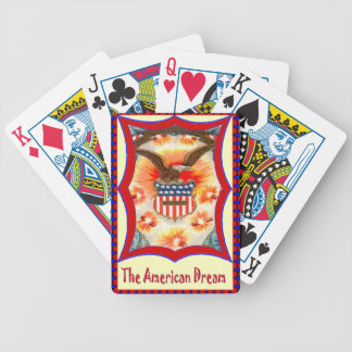 Bald eagle and badge bicycle playing cards