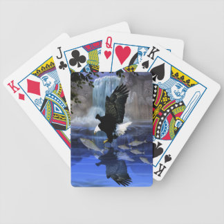 Bald eagle and the waterfall poker deck
