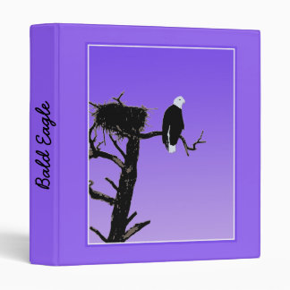 Bald Eagle at Sunset 3 Ring Binder