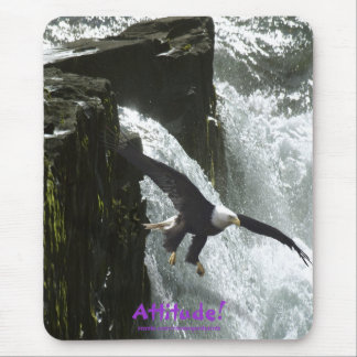 Bald Eagle Attitude! Motivational Mousepad