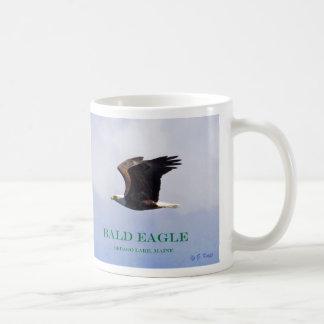 Bald Eagle baby, spread-eagle, and mom in flight Coffee Mug