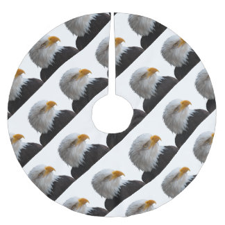 Bald eagle brushed polyester tree skirt