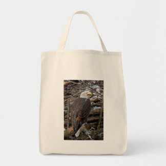 Bald Eagle by Snowy Nest Tote Bag