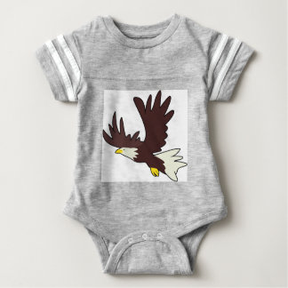 Bald Eagle Cartoon Baby Bodysuit
