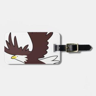 Bald Eagle Cartoon Luggage Tag