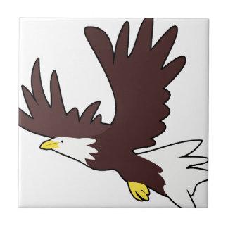 Bald Eagle Cartoon Tile