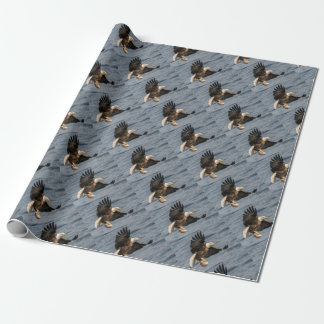 Bald Eagle Catching Food Wrapping Paper