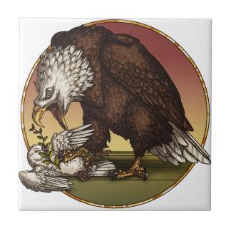 Bald eagle ceramic tile