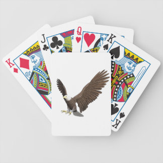 Bald Eagle Coming In For A Landing Bicycle Playing Cards