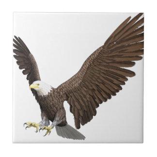 Bald Eagle Coming In For A Landing Ceramic Tile