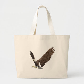 Bald Eagle Coming In For A Landing Large Tote Bag