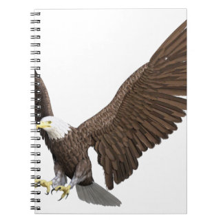 Bald Eagle Coming In For A Landing Spiral Notebook
