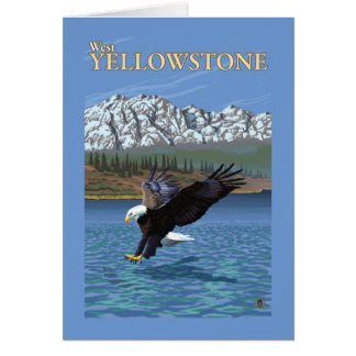 Bald Eagle Diving - West Yellowstone, MT Card